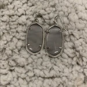 Grey and Silver Kendra Scott Elle Earrings